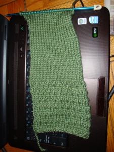 So far with my scarf